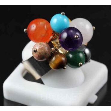 Anillo multicolor de Piedras Semipreciosas