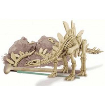 Excavación de dinosaurio stegosaurus