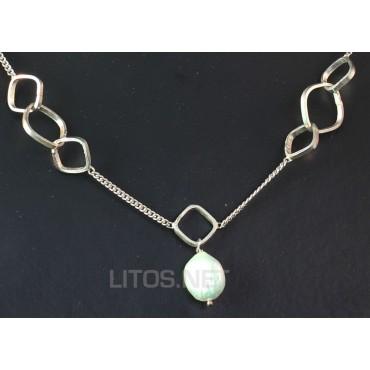 Collar de perla y plata