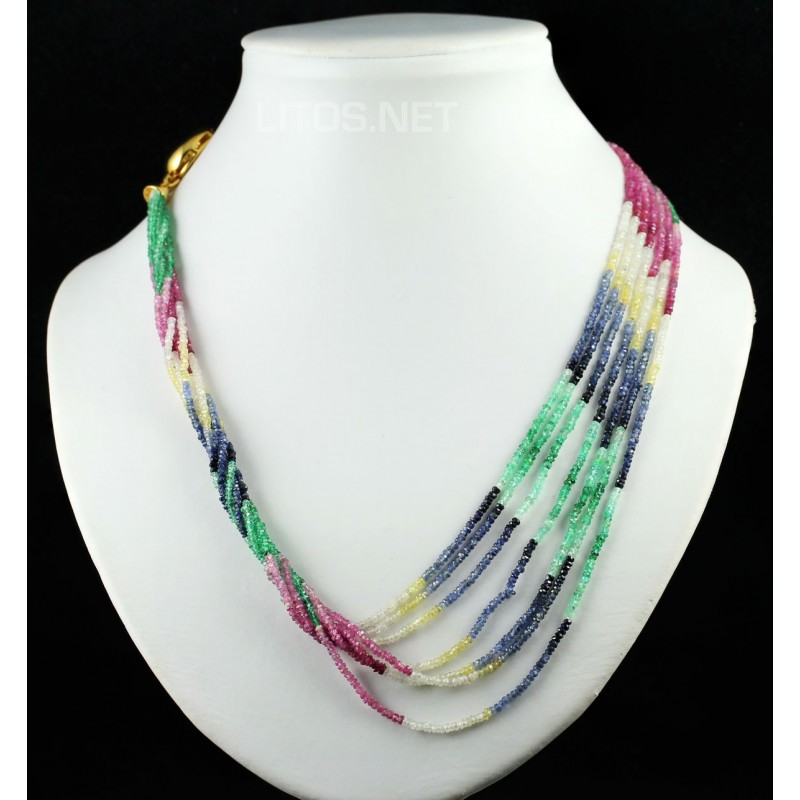 mejor selección 63c47 c3518 Collar de Rubí, esmeralda y zafiros